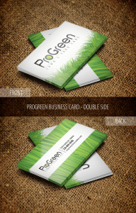 Pro Green Business Card Design