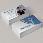 Abstract Fitness Business Cards